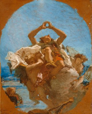 Tiepolo, Giovanni Battista Venetian, 1696 - 1770 Saint Roch Carried to Heaven by Angels c. 1735/1745 oil on canvas