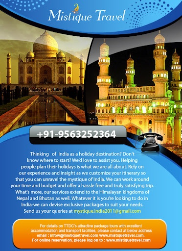 Flyer Design for  Travel agent India