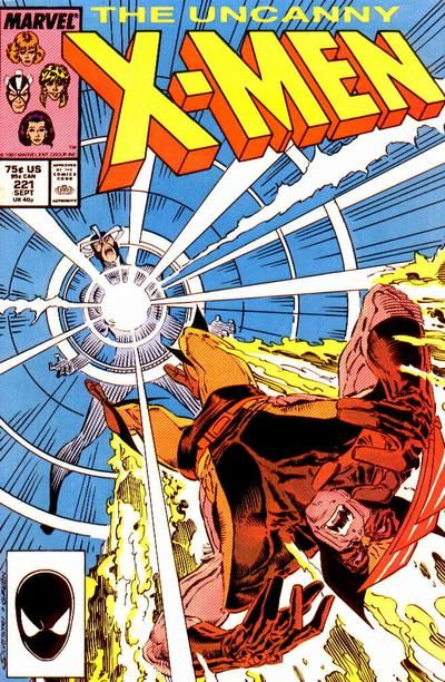 Cover for The Uncanny X-Men (Marvel, 1981 series) #221 [Direct Edition]
