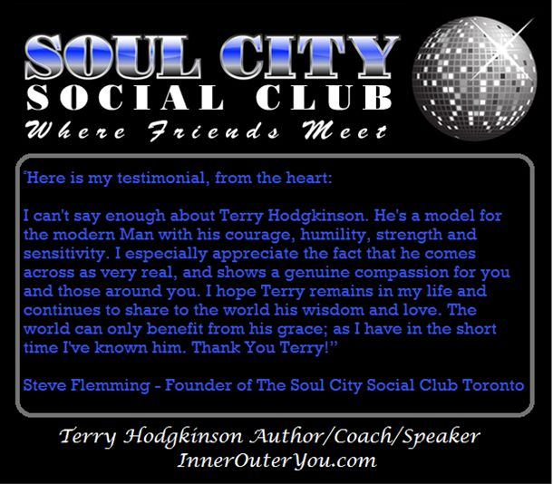 Terry Hodgkinson gives a number of talks to social clubs and schools as well.  http://www.InnerOuterYou.com  http://www.PositiveChangesEtobicoke.com