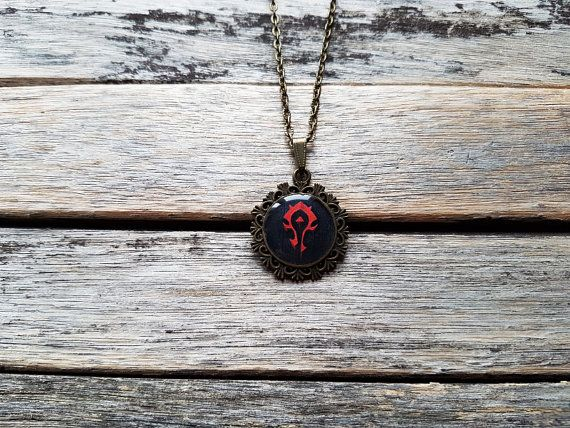 World of Warcraft WoW Horde Faction Crest Cameo Nerdy