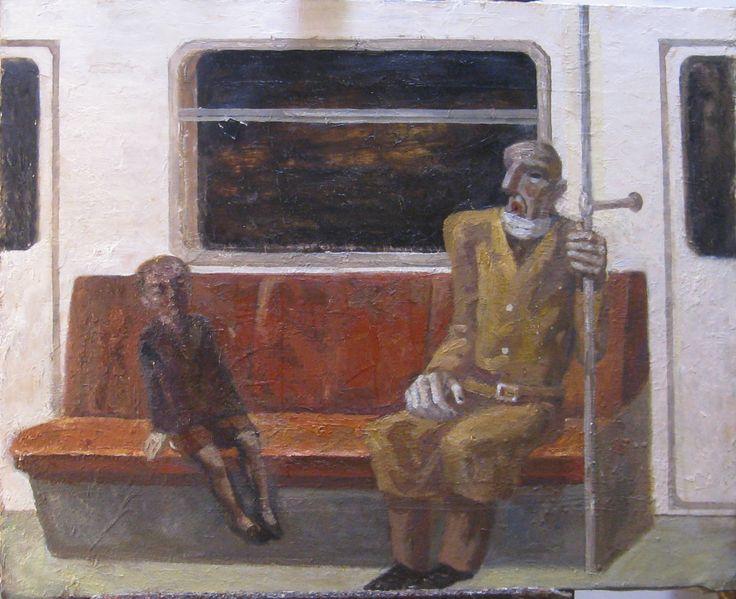 старик в метро