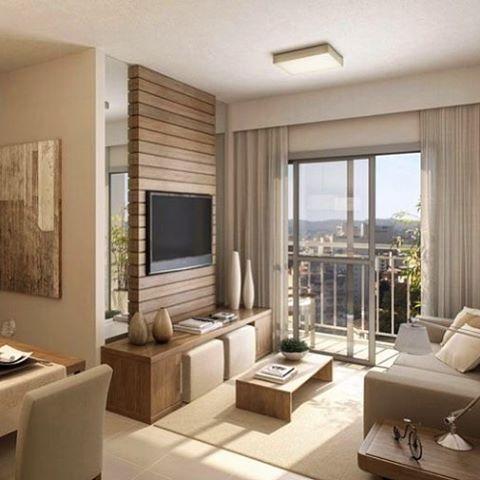 Painel Madeira Sala Com Espelho Sigam No SNAP: Decoremais E No Ig:  @carolcantelli_interiores. Home Interior DesignLiving RoomGood ...