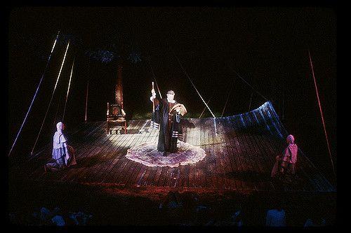 Dr. Faustus - Christopher Marlowe Photo: Chris Harris Oak Park Festival Theatre - June 1981 Director: Patrick O'Gara Scene Designer: Chris Harris Costume Designer: Nanalee Raphael