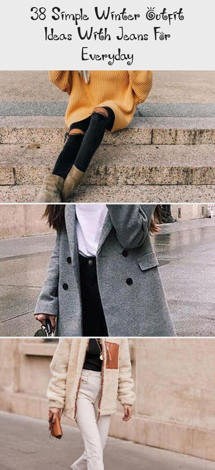 38 Simple Winter Outfit Ideas With Jeans For Everyday