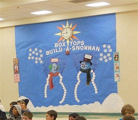 Build a Box Tops Snowman!