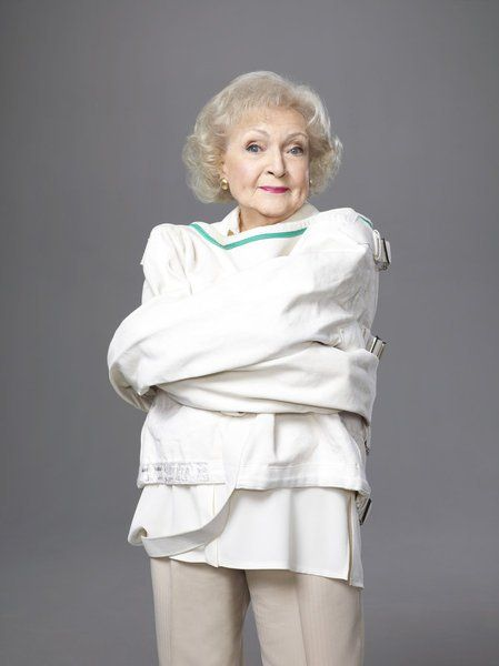 """Betty White (January 17, 1922 - ) in """"Betty Whites Off Their Rockers"""", 2013. Newzealand TV program #actor"""