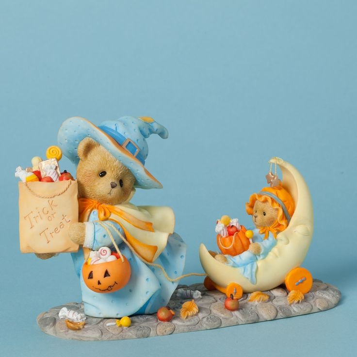 Item Number: 4040453 Material: Stone Resin Dimensions: 3.875 in H x 2.5 in W x 6.5 in L Connie the witch and her little helper Annie are pulling together their favorite stash of Halloween candies... T