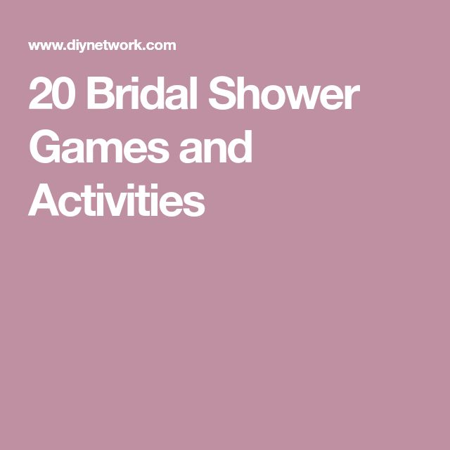 20 Bridal Shower Games and Activities