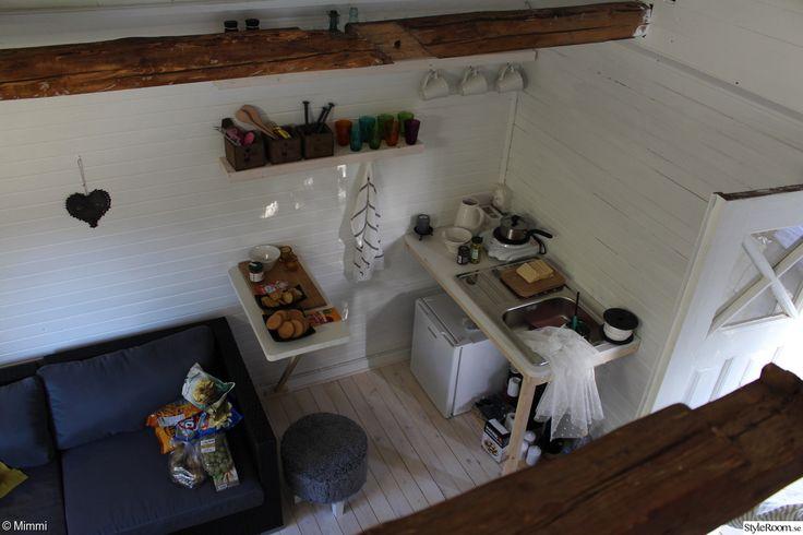 sommarhus,kompakt living,kök,köksbänk,klaffbord