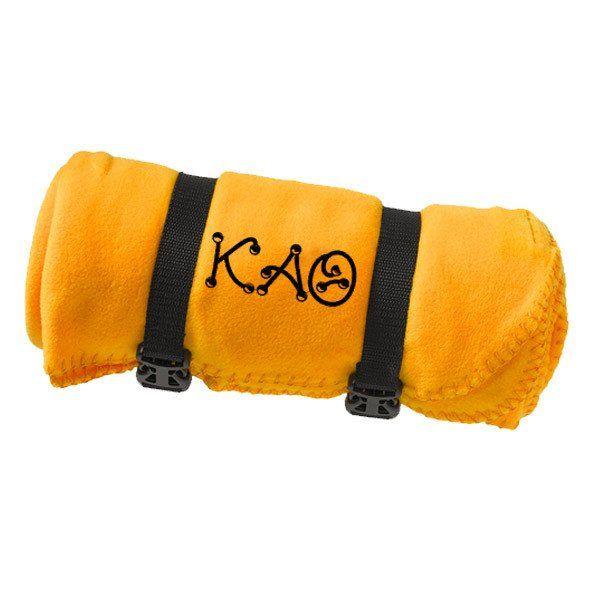 Kappa Alpha Theta Fleece Blanket - Port and Company BP10 - EMB