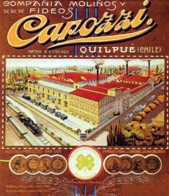 1920. Compañia molinos y Fideos Carozzi. Quilpue, CHILE
