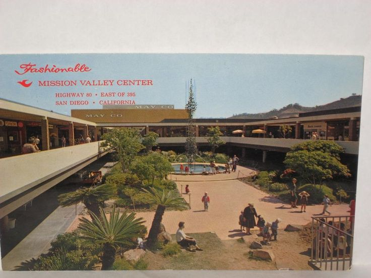 "1960s "" FASHIONABLE "" MISSION VALLEY CENTER  SAN DIEGO CA"