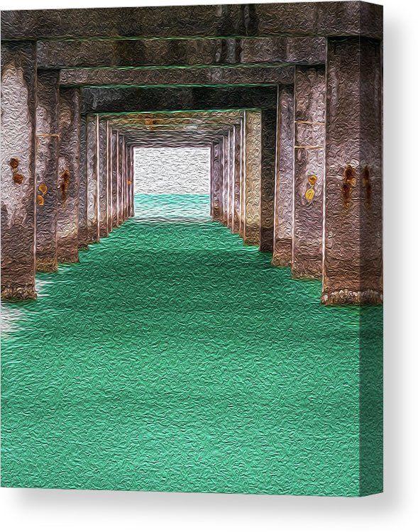 Canvas Art Wall Art Beach Art Ocean Painting Pier Clearwater