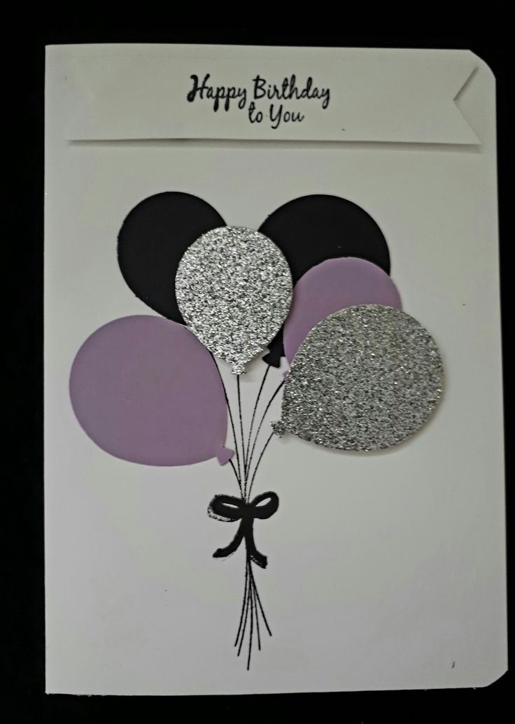 Birthday Card with Baloon celebration Stamp set from Stampin Up!