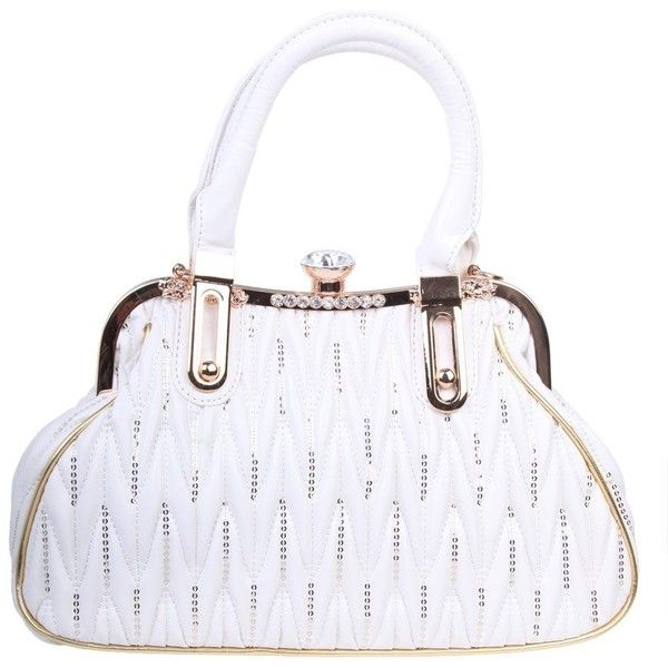 Fawziya Big Purses With Long Straps Giant Diamond handbags for women ( 54)  ❤ liked 9d466e5e69636