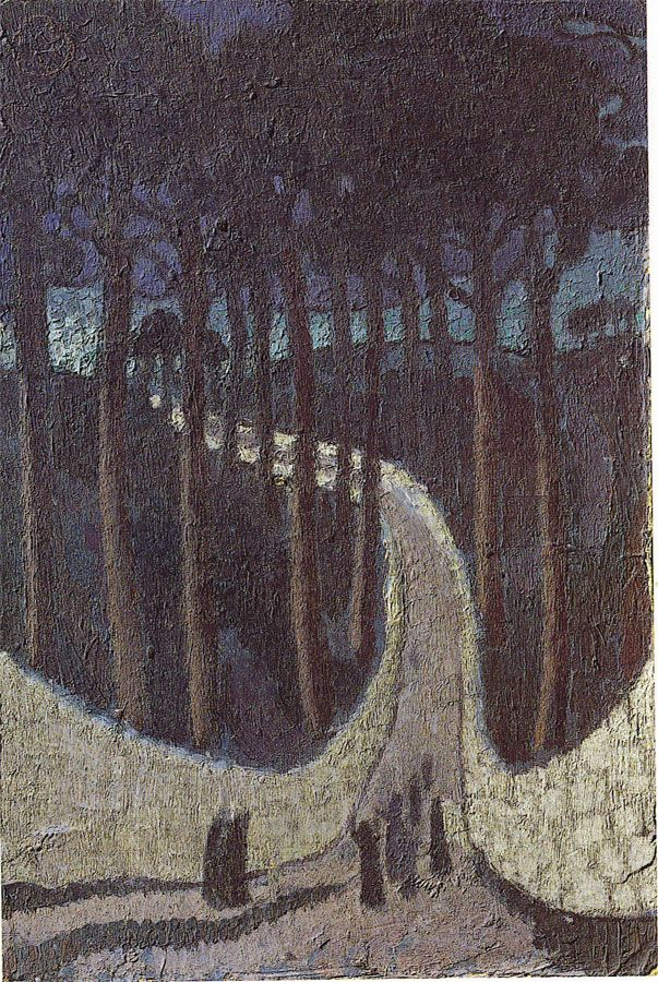 Maurice Denis (French, 1870-1943)  Road between the trees (Chemin dans les arbres), 1891