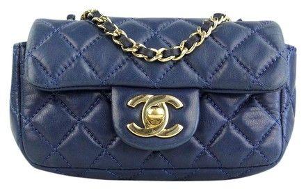 Chanel Navy Lambskin Extra Mini Flap Blue Cross Body Bag on Sale, 43% Off | Cross Body Bags on Sale