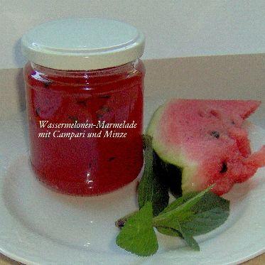 Wassermelonen-Marmelade mit Campari und Minze