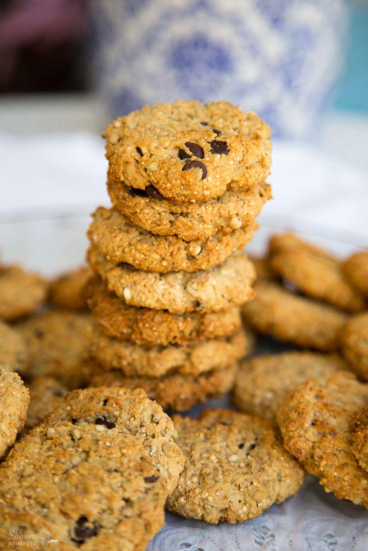 vegan Hafer-Buchweizen-Amaranth Cookies mit Schokolade sharonesse gesund high carb abnehmen
