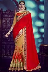Lush Beige and Rust Red Saree  https://www.ethanica.com/products/lush-beige-and-rust-red-saree