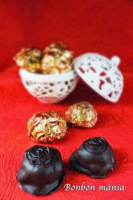 Bonbon mánia: Konyakmeggy bonbon formában
