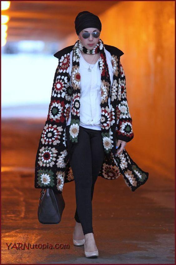 Carré de grand-mère manteau écharpe Sweat à capuche par AlisaSonya