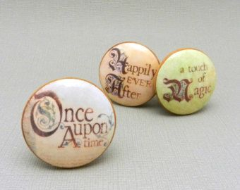 Drawer Pulls, Dresser Knobs, Home Decor Knobs, Fairy Tale, Wooden Knobs, Once Upon a Time, Nursery Dresser Pulls