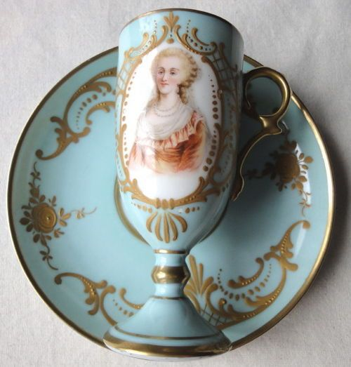 Limoges Coffee Cup Saucer