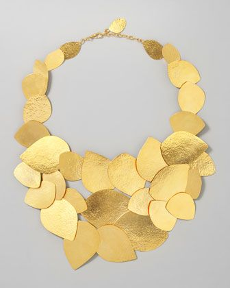 Herve Van Der Straeten Leaf Cluster Necklace - Neiman Marcus #necklace