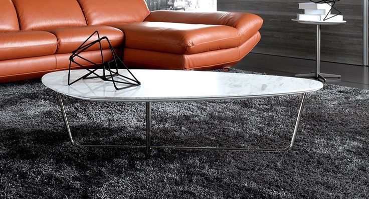 Sabrina coffee table with marble top
