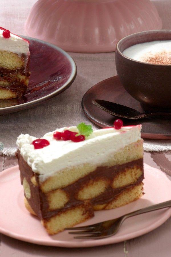 Loffelbiskuit Torte Ganz Ohne Backen Rezept Torte Ohne Backen Backzutaten Und Kuchen Ohne Backen