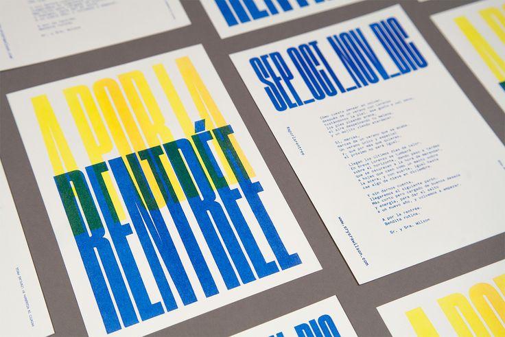 """Check out this @Behance project: """"A por la rentrée — Postcard"""" https://www.behance.net/gallery/48544149/A-por-la-rentre-Postcard"""