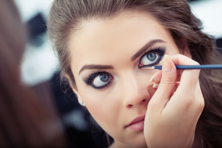 Eyeliner is an essential piece of dance competition makeup.