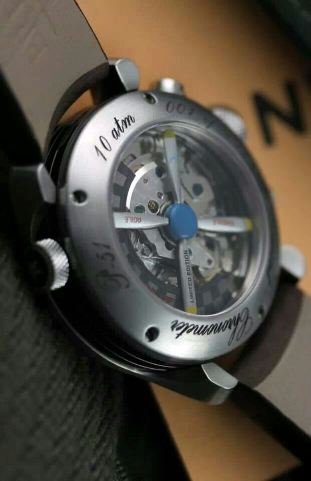 Bremont P-51 limited edition case back