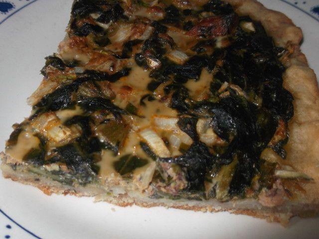 Tarta de sardinas y acelga
