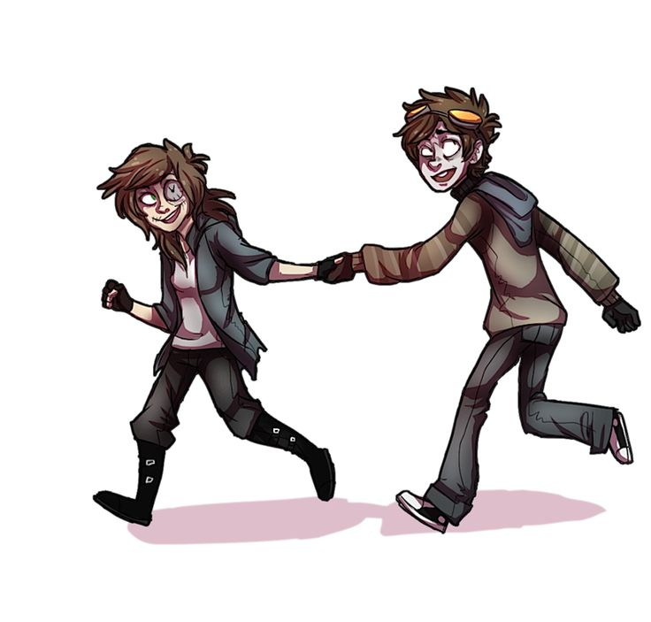 Clock and Toby run away together.
