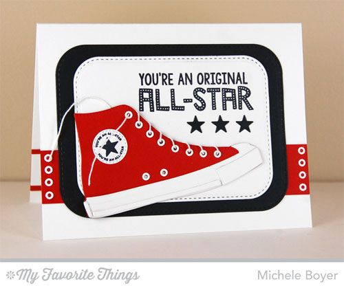 Be Original All-Star High Top Die-namics, Stitched Rounded Rectangle STAX Die-namics - Michele Boyer #mftstamps