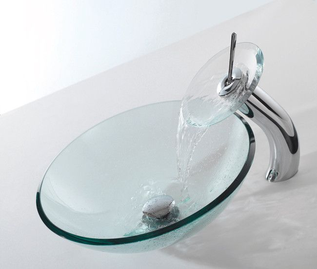Kraus Clear Sink Faucet Combination Clear Cgv10112mm10orb