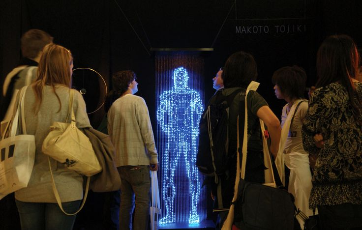 Mind Twisting Futuristic Holographic Light Sculptures