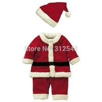 Wish | Baby Kid Boys Christmas Suits Xmas Santas Clothes Jumpsuits + Hat Cosplay Outfit