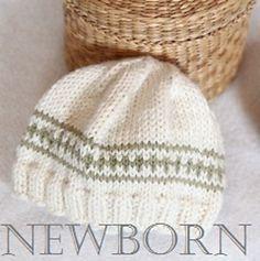 Ravelry: FREE Newborn Hat pattern by epipa                                                                                                                                                      More