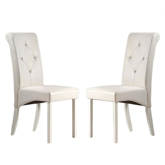 white leather dining room chairs will add rich elegance to your dining