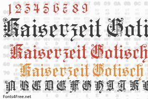 Kaiserzeit Gotisch Font