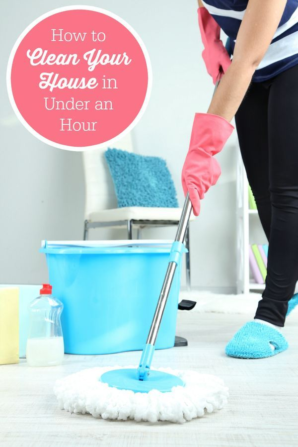 How to Clean Your House in Under an Hour - It's not a deep clean, but it will do in a pinch!