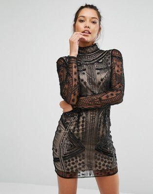 Облегающее платье с высоким воротом Missguided Peace + Love