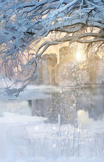 Magic of Winter, snow, cold, water, reflections, beauty of Nature, magical, beautiful, gorgeous, peaceful