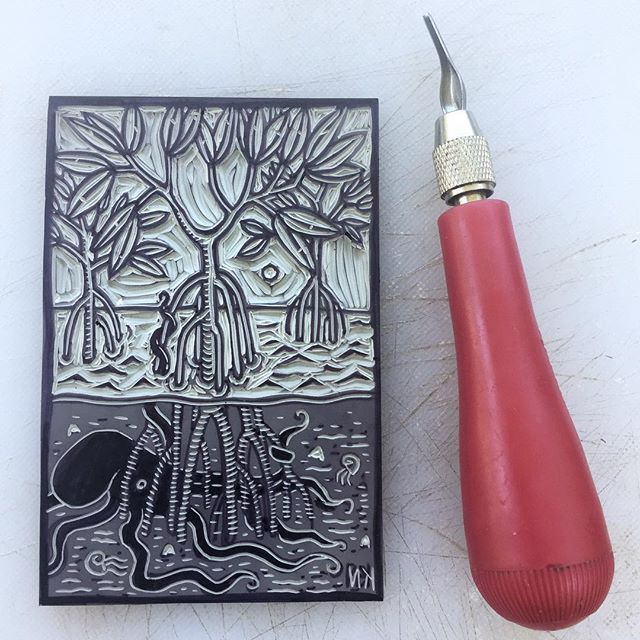 #linocut #printmaking #blockprint #reliefprint