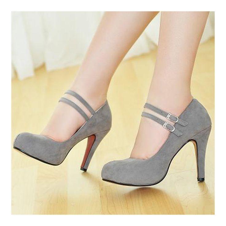 bridal wedding thin shoes grey
