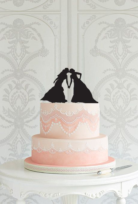 Lesbian Wedding Cake Topper Mrs Mrs same sex wedding cake decoration ideas laser cut custom cake topper